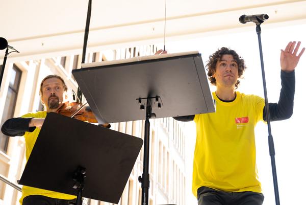 Christian Tetzlaff und Robin Ticciati beim Symphonic Mob 2019